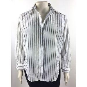 Lauren Ralph Lauren Button Up Shirt Size 1X V744